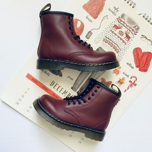 Dr. Martens Core Kids Cherry Red 1460 T Boots